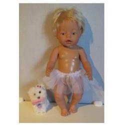 losse tutu wit baby born 43cm