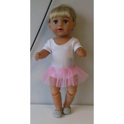 losse tutu roze baby born 43cm