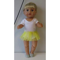 losse tutu geel baby born 43cm