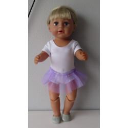 losse tutu lila baby born 43cm