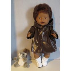 regenjas bruin baby born 43cm