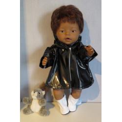 regenjas zwart baby born 43cm