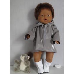 regenjas grijs baby born 43cm