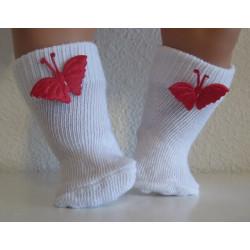sokjes met rode vlinder...