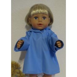 regenjas blauw baby born 43cm