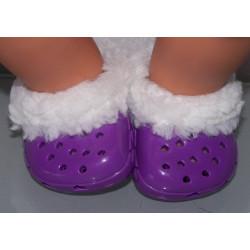winter crocs paars baby...
