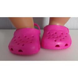 crocs hard roze baby born...