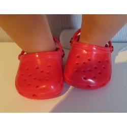 crocs rood met hartjes baby...