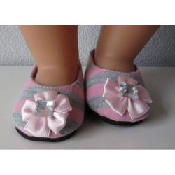 ballerina's grijs met roze...