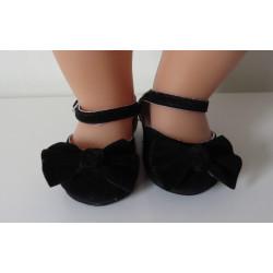 suede schoentjes zwart baby...