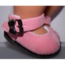 suede schoentjes roz emet...
