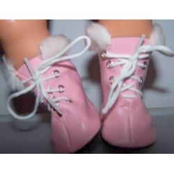 schaatsen roze met bont...