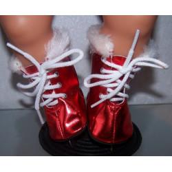 schaatsen rood matalic baby...