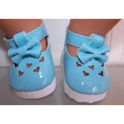 lak schoentjes blauw met...