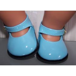 lak schoentjes blauw baby...
