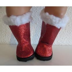 laarzen rood glitter baby...