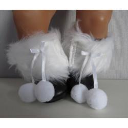 laarzen zwart met wit baby...