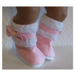 laarzen roze met strikje...