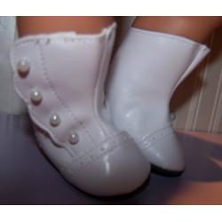 victoriaanse laarzen wit...