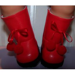 laarzen rood baby born 43cm...