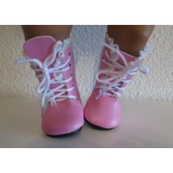 laarzen roze met kant baby...