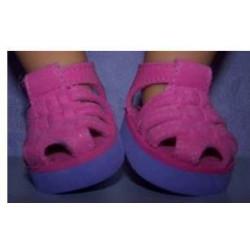 sandalen roze met paars...