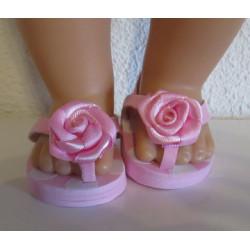 slippers roze polka dots...