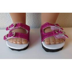 sandalen hard roze glitter...