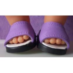 slippers lila baby born...