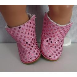 ugs laarzen roze glitter...