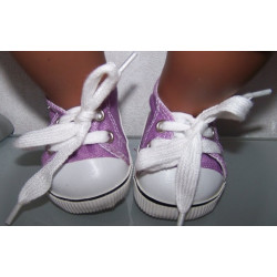 sneakers lila aby born 43cm...