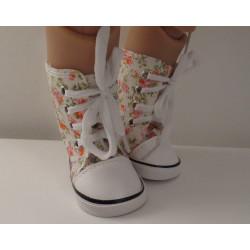 sneakers hoog gebloemd baby...