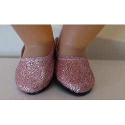 glitter schoentjes oud roze...