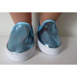 matalic schoentjes blauw...
