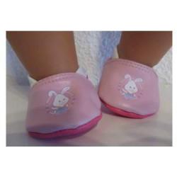 sloffen roze baby born 43cm