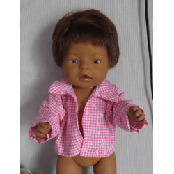 openjas roze baby born 43cm