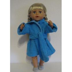 badjas aqua blauw baby born...