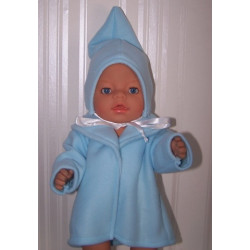 kraagjas blauw baby born 43cm
