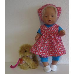 baby doll rood met bloemen...
