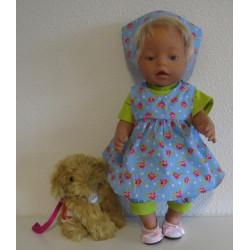baby doll setje blauw...
