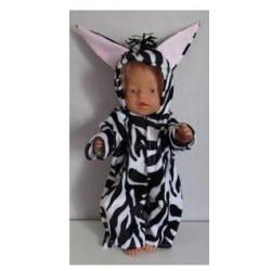 zebrapak  baby born 43cm