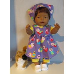 baby doll setje paars met...