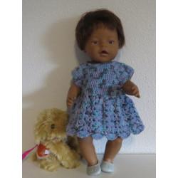 gehaakte jurk blauw baby...