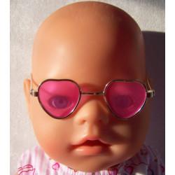 hartvormige zonnebril roze