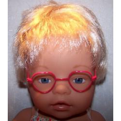 hartvormige bril rood