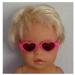 zonnebril hard roze hartvormig