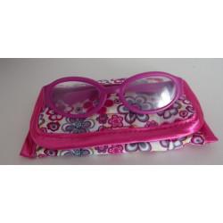 bril hard roze met opbergzakje