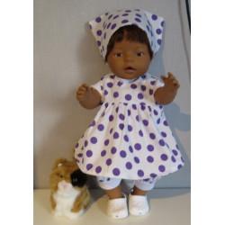baby doll setje met polka...