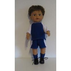 voetbal setje blauw baby...