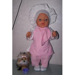 kok set roze baby born 43cm
